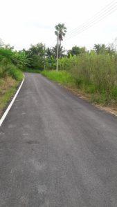 ทางเข้าที่ดิน ถมที่ดินแล้ว ซอยกันตนา บางใหญ่ ขนาด 110 ตารางวา