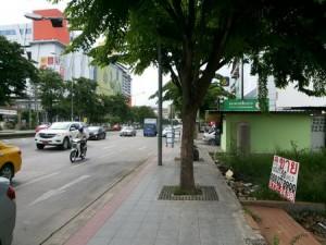 ถมดินติดถนน