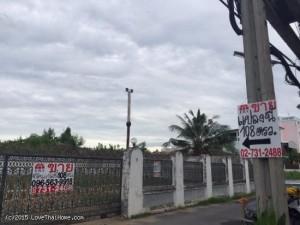 ขายที่ดิน ถมดินแล้ว ซอยศรีนครินทร์ 65 พื้นที่ 108 ตารางวา ราคาถูก