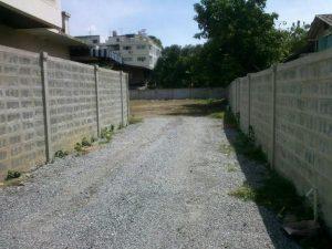 ทำถนนเข้าที่ดิน ซอยกรุงเทพ-นนท์ 2 ถมที่ดินเรียบร้อย ขนาดแปลง 528.5 ตารางวา