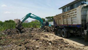 ตัวอย่างงานถมที่ดิน นาคนิวาส 48 ปรับดิน